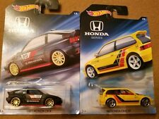 2018 HOT WHEELS HONDA SERIES 1985 HONDA CR-X & 1990 HONDA CIVIC HATCH BACK
