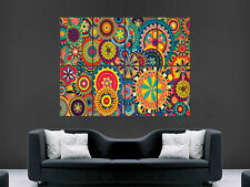TRIPPY ART CIRCLES PSYCHEDELIC ART STYLE ABSTRACT BRIGHT PICTURE PRINT GIANT