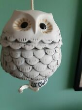 Los Scotts San Antonio Lil Owlbert Ceramic Owl With Ceramic Bell