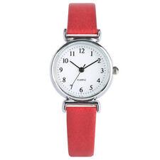 Brief Leather Band Women Lady Analog Quartz Wrist Watch Gifts Bracelet Watches