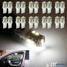 100PCS White T10 921 6000K License Plate Interior SMD Lights Bulbs 10-LED