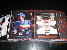 Five 2008 Tristar Prospects Plus sets (150) Bumgarner Posey 2017 Majors Minors