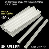 100X 7.2MM ADHESIVE HOT MELT GLUE STICKS FOR TRIGGER ELECTRIC GUN HOBBY CRAFT