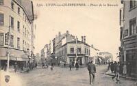 CPA 69 LYON LES CHARPENNES PLACE DE LA BASCULE (cliché pas courant