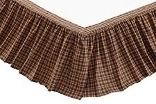 Prescott Twin Bedskirt by Vhc Brands - Shades of Brown, Tan and Neutrals