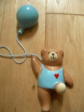 TEDDY BEAR BALLOON CERAMIC WALL HANGING DECORATION