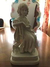 "Gorgeous Bisque Figurine of young Lady, 7.5"" high, Marked on bottom ""Germany"""