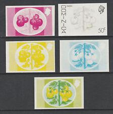 Dominica 3304 - 1975 TOMATOES  50c set of PROGRESSIVE PROOFS u/m