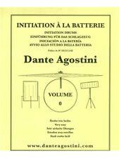 Dante AGOSTINI INIZIAZIONE A LA BATTERIA impara a suonare musica LIBRO TAMBURI