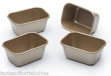 Paul Hollywood Bakeware Set of 4 Non Stick Mini 'Penny' Individual Loaf Tins