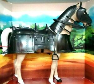 HORSE ARMOR FOR 1:6 SCALE JOHNNY WEST MEDIEVAL KNIGHT BLACK COLOR