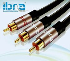 Premium Y Cable RCA Cable 1 RCA/ Subwoofer Cable ibra Audio Cable to 2 RCA Gold