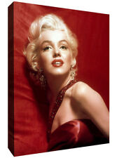 MARILYN MONROE GLAMOUR RED CANVAS WALL ART PICTURES MOVIE STARS