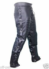 REAL LEATHER MENS BLACK JEANS Goth Bondage Clubwear Most sizes available
