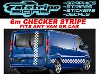6m CHECKER VIVARO MASTER PRIMASTAR VAN GRAPHICS STICKERS DECALS STRIPES LDV FIAT
