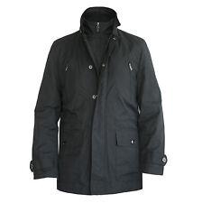 TASSO ELBA SPA. double zip front black jacket Small NEW layered trench coat