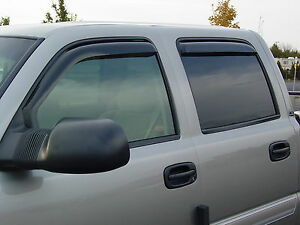 Chevy Trailblazer EXT.LT 2002 - 2006 In Channel Wind Deflector Vent Visor Shade