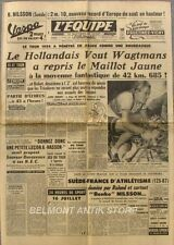 Journal l'Equipe n°2573 - 1954 - Tour de France - Bobet - Wagtmans - De Bruyne
