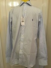 "BNWT Ralph Lauren White / Navy Stripe Long Sleeve 100% Cotton. Size 16"""