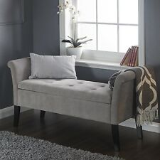 Shabby Chic Storage Seat Bench Furniture Bedroom Vintage Ottoman Wooden Legs
