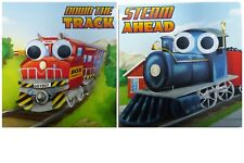 GOOGLE Eye Down the TRACK and STEAM Ahead, Set of 2 Board Books Pre-K NEW!