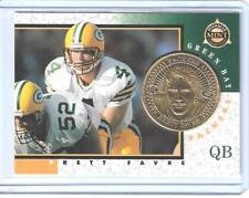 RARE 1998 PINNACLE MINT BRETT FAVRE GOLD PLATED COIN & CARD #1 GREEN BAY PACKERS