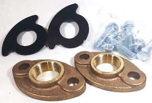 "1-1/2"" Lead-free Brass Meter Flange Connection Set For 1.5"" Water Meter,"
