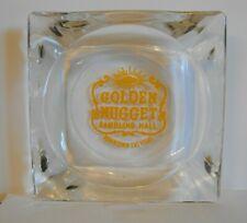 New ListingVintage Las Vegas Casino Hotel Ashtray ~ Golden Nugget ~ Clear Square Glass