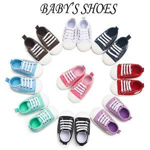 Newborn Baby Boy Girl Pram Shoes Infant Sneakers Toddler Pre Walker Trainers