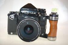 Pentax 67 m. 1:4 45mm Obj. incl Holzgriff und TTL Prisma