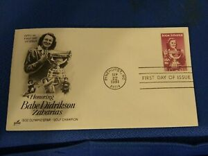 Scott #1932 18 Cent Stamp Honoring Babe Didrikson Zaharias First Day Issue