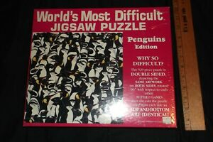 BUFFALO GAME , WORLD'S MOST DIFFICULT JIGSAW PUZZLE-PENGUINS-PRINTED BOTH SIDES