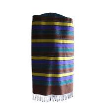 Luxury dupion 100% pure silk colorful strips men tassels long scarf  P7023131