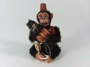 "Bridget McCarty Circus Monkey Grinder with Cat OOAK Miniature Dollhouse 3"""