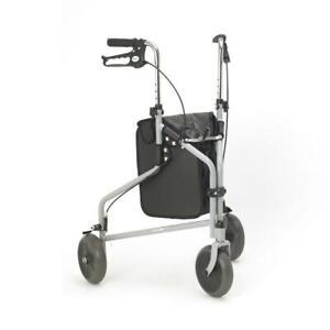 Days Tri Wheel Walkers with Loop Lockable Brakes - Silver Grey