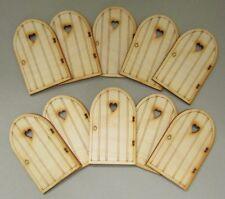 Wooden Fairy Door Pack – 10 x Plain Heart Fairy Doors. Designed & Made in the UK