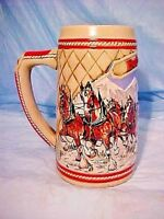 BUDWEISER Beer Stein Mug 1985 'A SERIES JOURNEYING THROUGH SNOW CAPPED MOUNTAINS