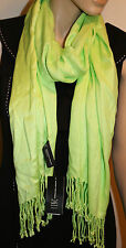 INC International Concepts Chartreuse Green Solid Neck Scarf 21 X 72 NEW
