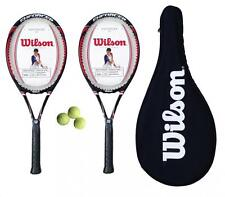 2 x Wilson Enforcer 100 Tennis Rackets L2 + Carry Case + 3 Tennis Balls RRP £150