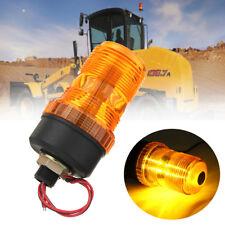 10-110V LED Flashing Rotating Amber Beacon Flexible Strobe Tractor Warning Light