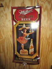 Vintage Original 1980's Miller High Life Beer Advertising Poster 34 x 16 Nice!