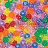 Lot of 100 Assorted 9mm x 6mm Transparent Colored Plastic Acrylic Pony Beads