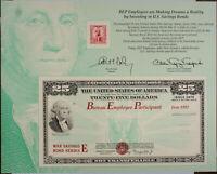 BEP souvenir card B 162 IPMS 1992 War Savings Bond 1942 Washington 10c Stamp
