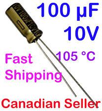 5pcs 100uF 10V 5x11mm Panasonic FC For PC TV AUDIO VIDEO TFT ACL LCD PS DVD