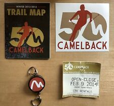 New listing Camelback Ski Mountain 50th Anniversary Sticker 2014, Trail Map, And pass holder