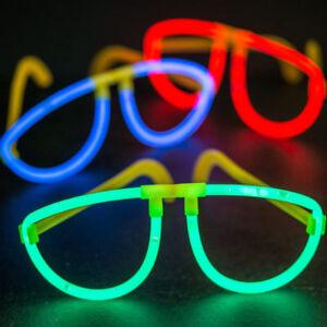 Glow In Glo Dark Glasses Party Fancy Dress Neon Sticks Hen Glosticks Festival