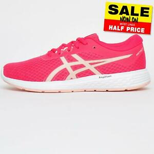 Asics Patriot 11 Womens Running Shoes Fitness Gym Workout Trainers Pink