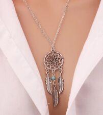 Halskette Traumfänger Silber Türkis Schmuck Dreamcatcher Kette Anhänger P152