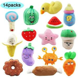 14 Pack Puppy Toys, Dog Squeaky Toys Cute Stuffed Plush Toys