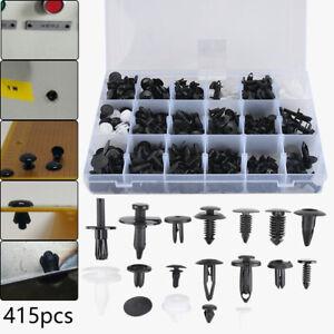 415pcs Rivet Clip en Plastique Rivets Fixation Clips Plastique Voiture Auto FR
